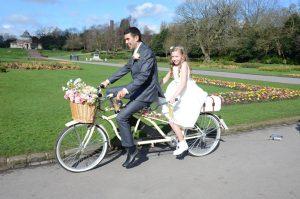 Wedding Tandem - Cheaper Than a Rolls & Lots More Fun Too!