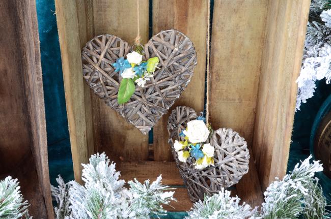 Rustic Crates & Wicker Love Hearts