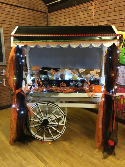 Halloween Themed Candy Cart