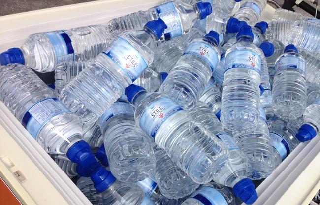 Heavy Water Bottles - Aldi Give-away Promo